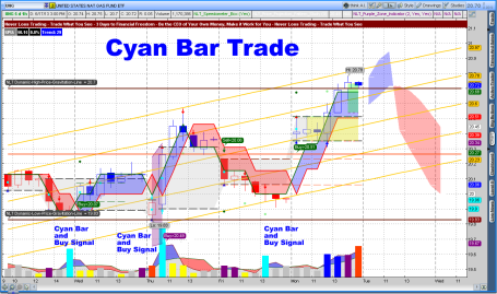 NeverLossTrading Cyan Bar 1-Hour Trade