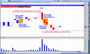 Australian Dollar 1-Hour Long Wig Candle Trade
